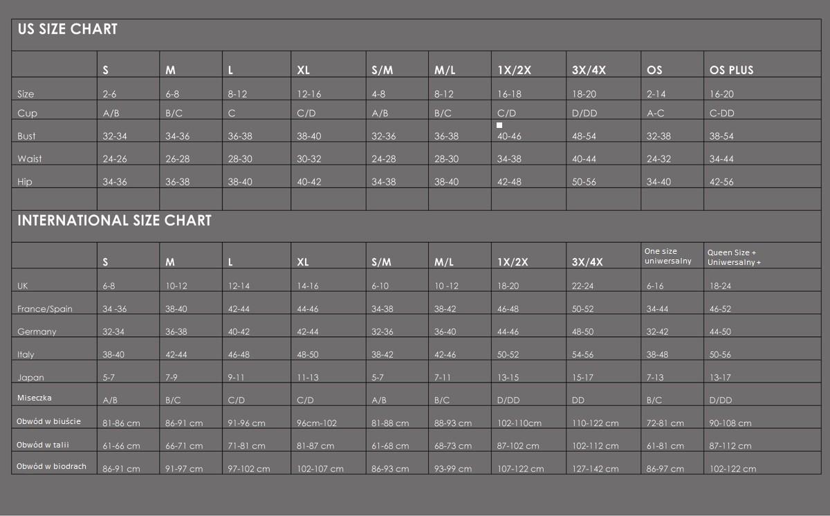 Tabela rozmiarów Seven'til Midnight