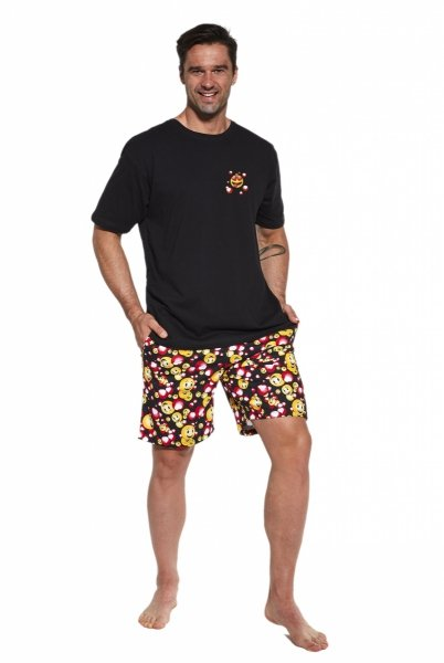 Cornette Funny 328/103 Czarna piżama męska