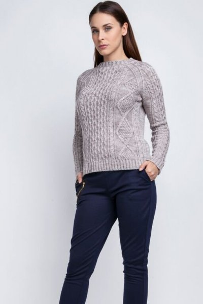 MKM Candice SWE 042 beżowy Sweter
