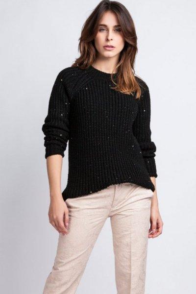 MKMSwetry Kriss SWE 076 czarny sweter