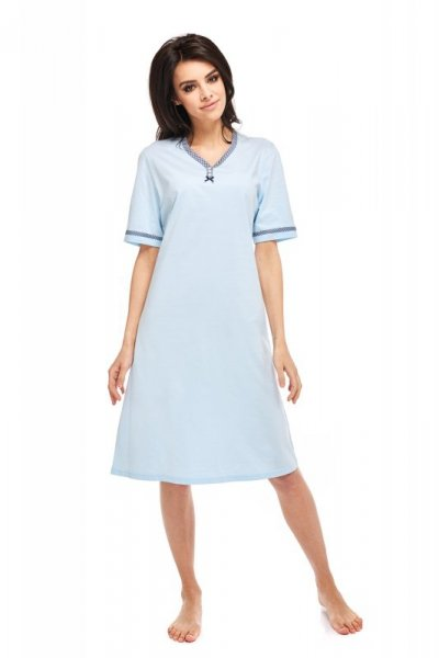Betina Anna 216 Błękitna kr. rękaw koszula nocna