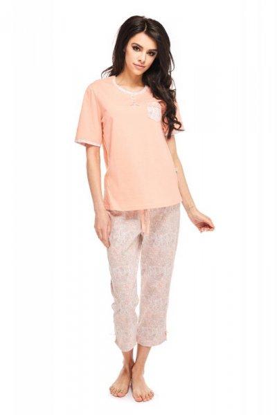 Betina Abigail 162 Łososiowa kr. rękaw piżama damska