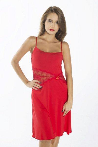 Gaia Persefona z bursztynem NKV121 Czerwona koszula nocna