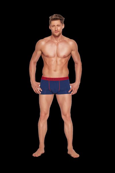 Henderson P068 35384-59x 2 sztuki - Granatowe i czerwone bokserki męskie
