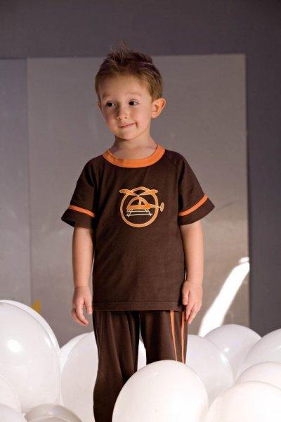 Piccolo Meva Noe 2975 brązowa piżama chłopięca