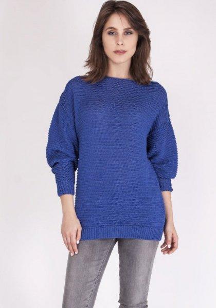 MKMSwetry Beatrix SWE 097 Chabrowy sweter damski