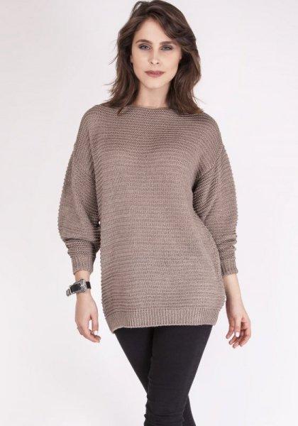 MKMSwetry Beatrix SWE 097 Mocca sweter damski