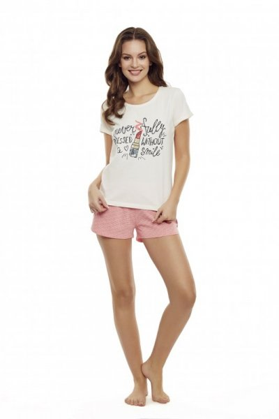 Henderson Ladies Devine 35830-01X Ecru-róż piżama damska