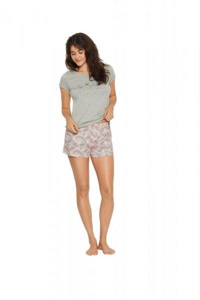 Henderson Ladies Favor 38060-90X Szaro-różowa piżama damska