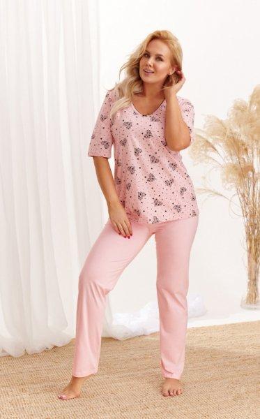 Taro Lidia 2465 AW/20 - Kolor 01 - Różowy pudrowy piżama damska