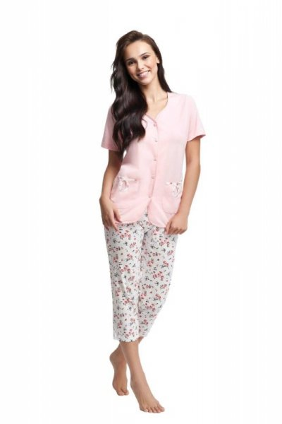 Luna 632 Różowa piżama damska