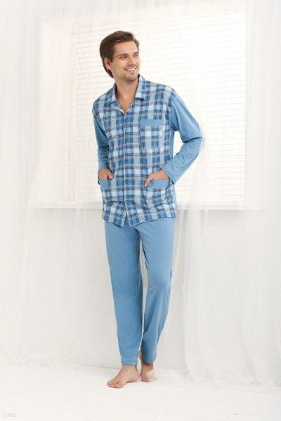 Luna 797 Niebieska piżama męska