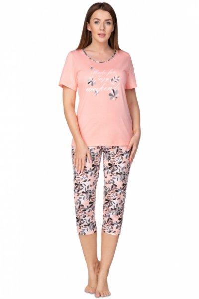 Regina 937 Koralowa Plus piżama damska