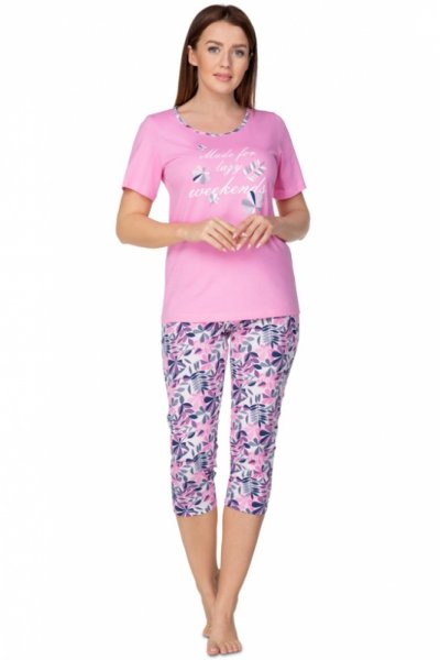 Regina 937 Różowa Plus piżama damska