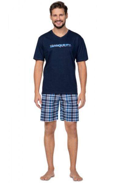 Regina 583 Granatowa piżama męska