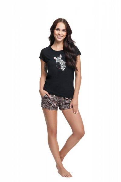 Luna 585 Czarna piżama damska