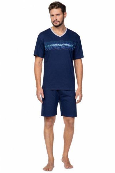 Regina 586 Granatowa piżama męska