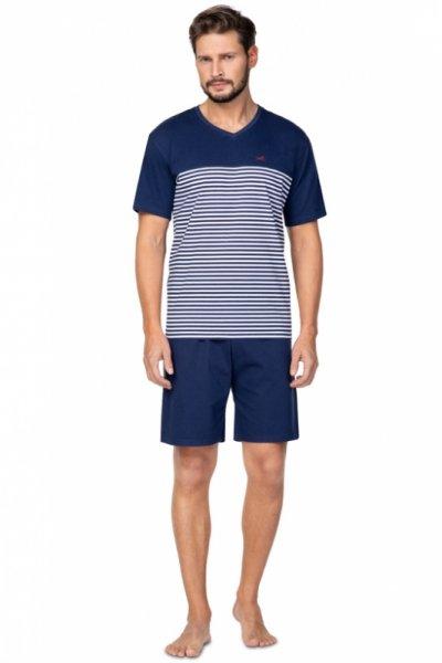 Regina 585 Granatowa piżama męska