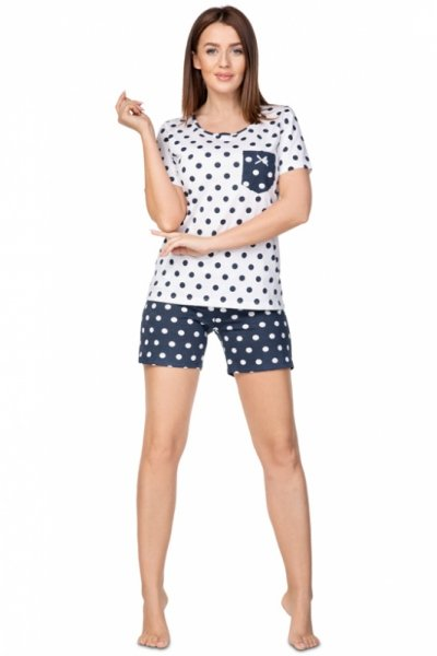 Regina 949 Granatowa piżama damska