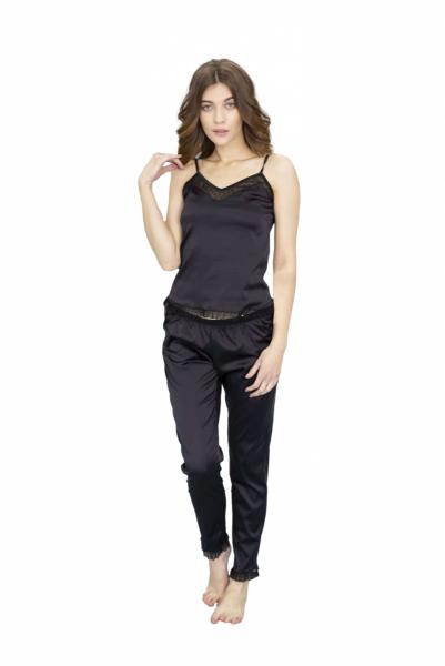 Leinle Beatrice 774 Czarna piżama damska