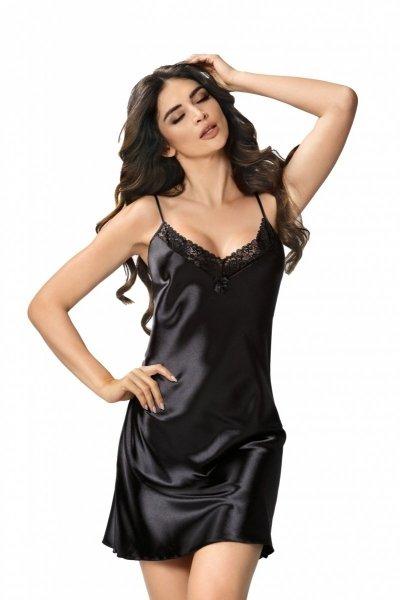 Donna Sylvia czarna Koszula nocna