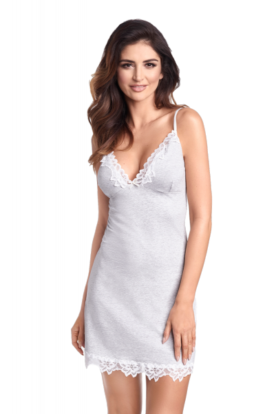 Ewana Nina 054 Grey damska koszula nocna