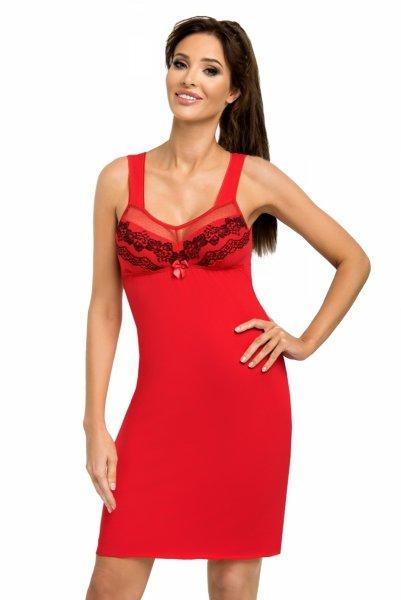 Donna Jasmine czerwona Koszula nocna