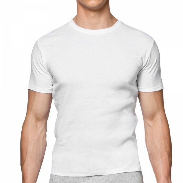 Atlantic BMV-048 biała Koszulka męska