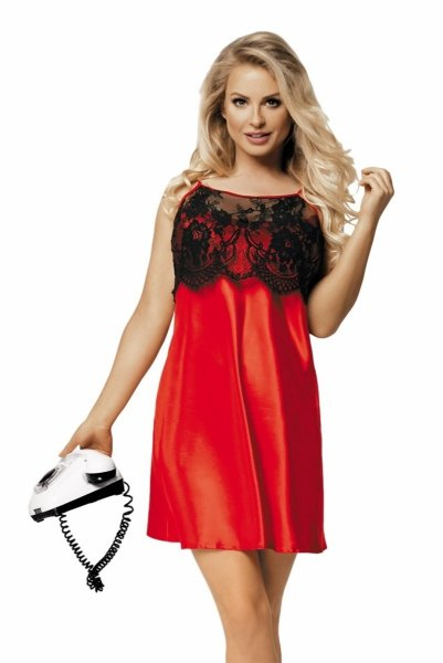 Dkaren Janice czerwona Koszula nocna