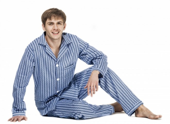 Kuba Flanela Nadwymiar piżama męska
