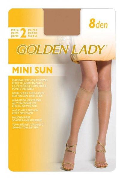Golden Lady Mini Sun 8 den A'2 2-pack podkolanówki