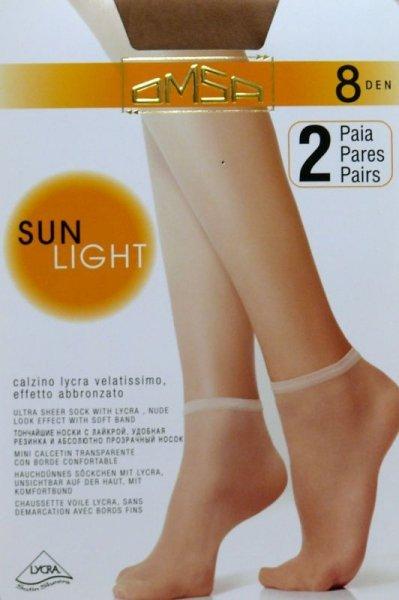 Omsa| Sun Light 8 den A`2 2-pack skarpetki