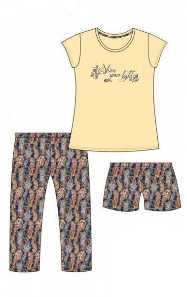 Cornette 665/245 Shine Trzyczęściowa piżama damska