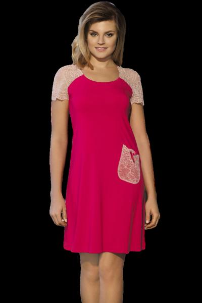 Babella Linet Jasny rubin damska koszula nocna
