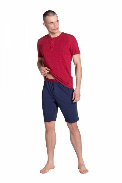 Henderson Dune 38879-33X Czerwono-Granatowa piżama męska