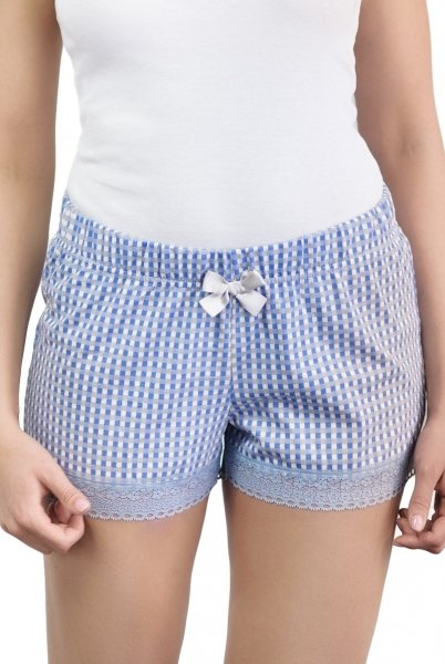 Babella Bella Blue 3121 damskie spodenki piżamowe