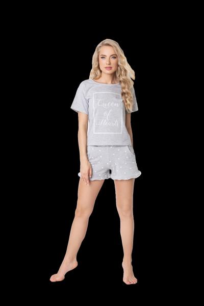 Aruelle Hearty Short Grey piżama damska