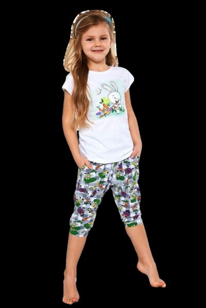 Cornette Kids Girl 487/84 Bunny 86-128 piżama dziewczęca