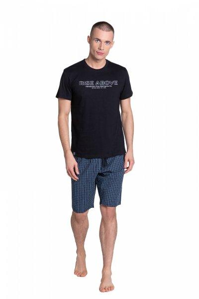 Henderson Dojo 38883-99X Czarno-Granatowa piżama męska