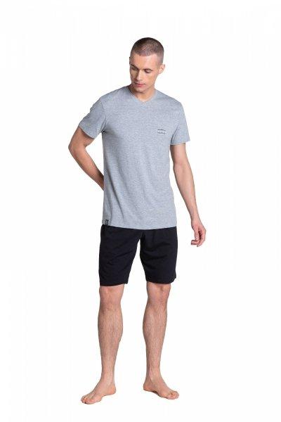Henderson Duty 38881-90X Szaro-Czarna piżama męska
